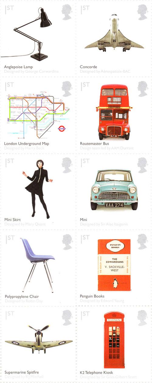 British Design Classics Stamp