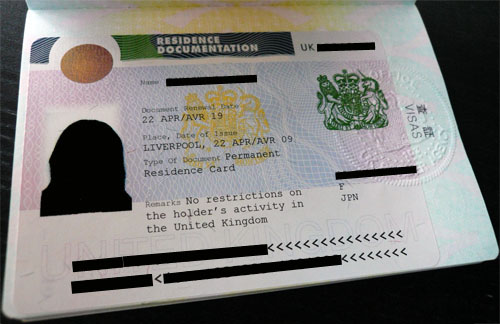 Permanent Residence Card