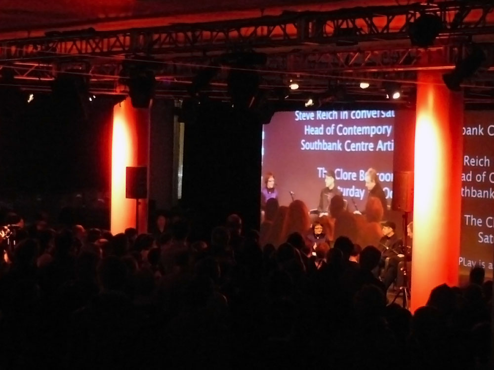 London Sinfonietta: Steve Reich Post Concert Talk