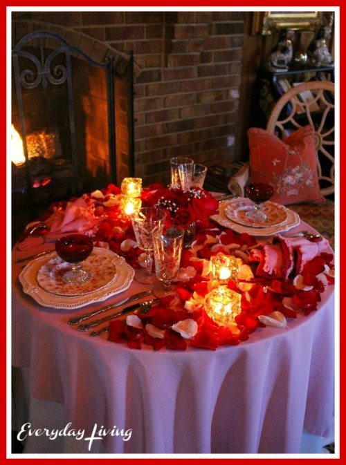 Romantic Table For Two Romance Amp Roses
