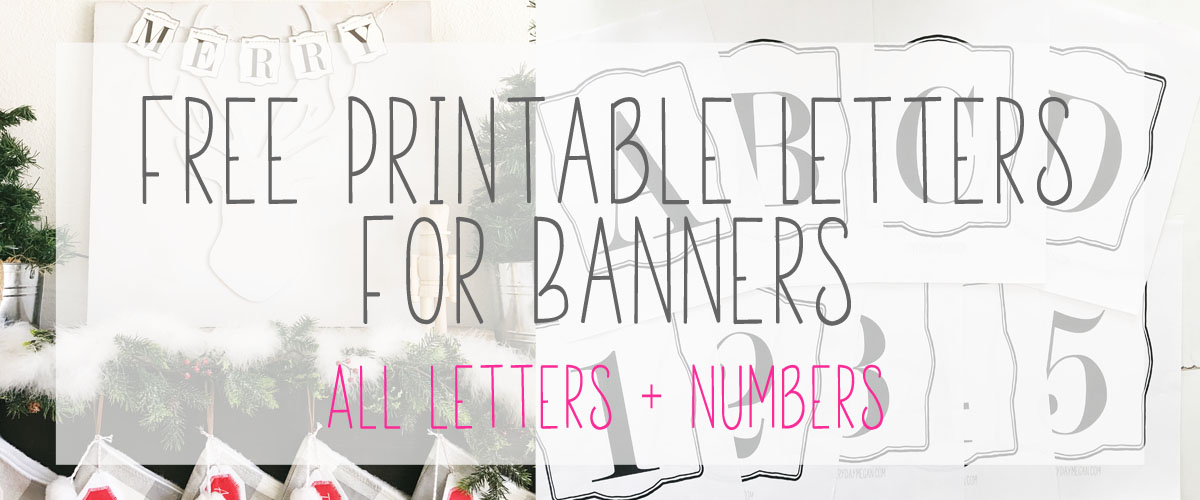 Free Printable Letters Numbers Perfect For Any Occasion