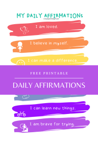 Daily Affirmation for Girls