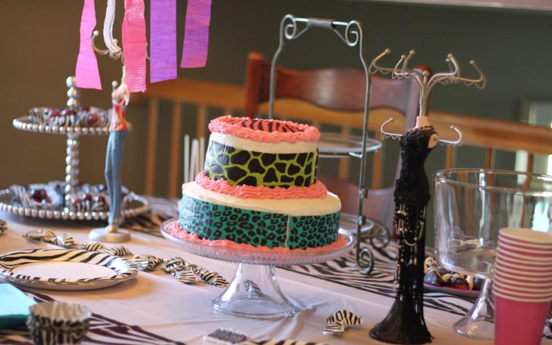 Fashion birthday party