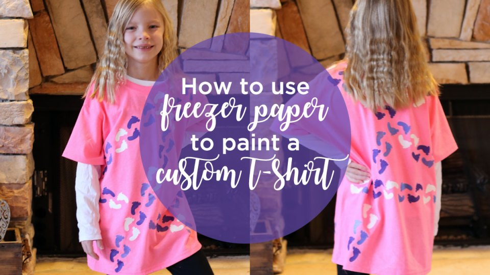 Using freezer paper to paint a custom t-shirt