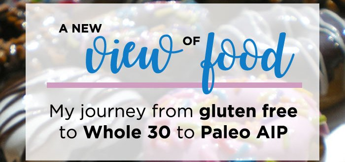 A New View of Food: My journey from gluten free to Whole 30 to Paleo AIP after being diagnosed with Celiac Disease.