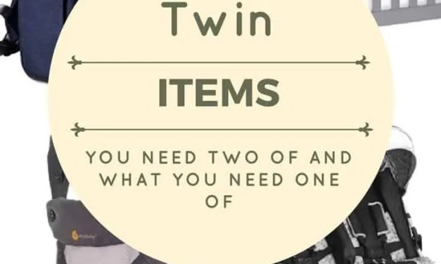 Life Saving Must-Have Items for Twins (and singletons)