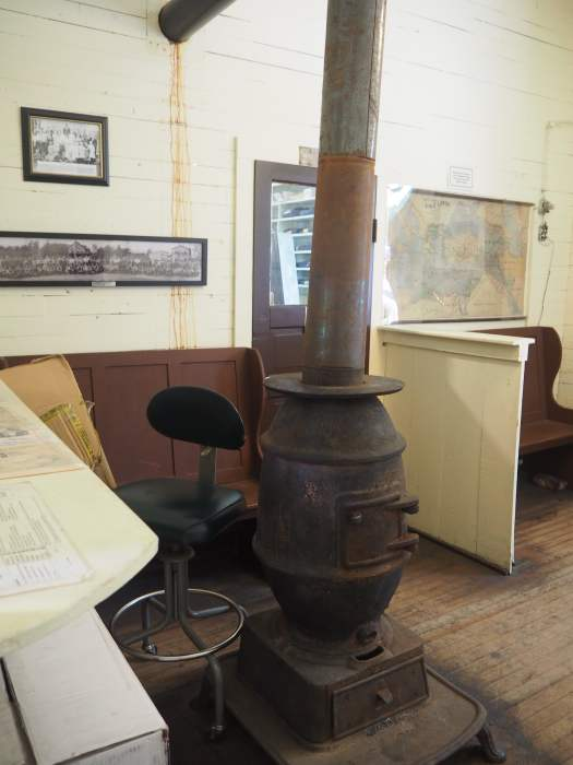 Fireplace in the Green Cove Station