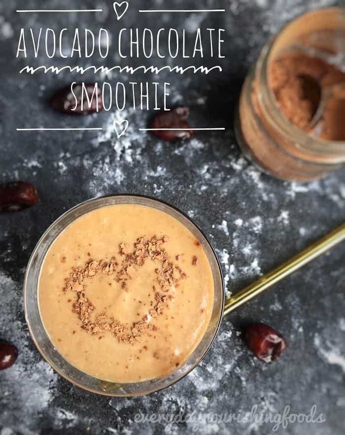 Avocado chocolate smoothie recipe