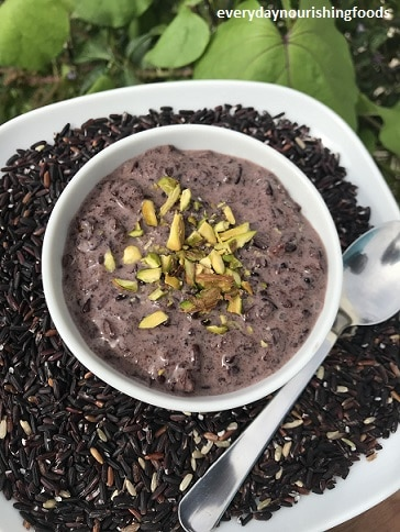Black rice kheer - black rice payasam