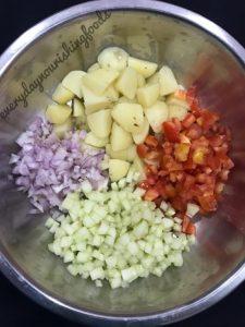 Lobia salad veggies