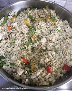 Millet capsicum rice steps