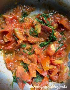 Tomato pachadi ingredients