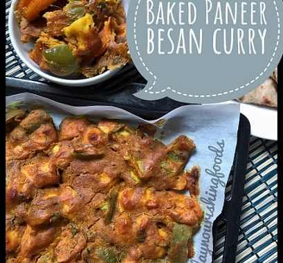 Baked paneer besan curry recipe