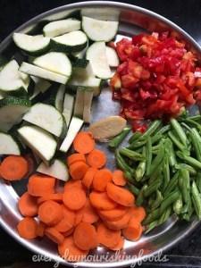vegetable rajma curry ingredients