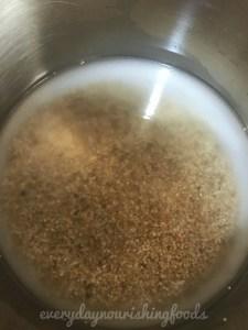 Quinoa kheer with strawberries recipe steps