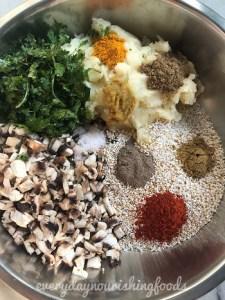puffed amaranth mushroom cutlet recipe ingredients