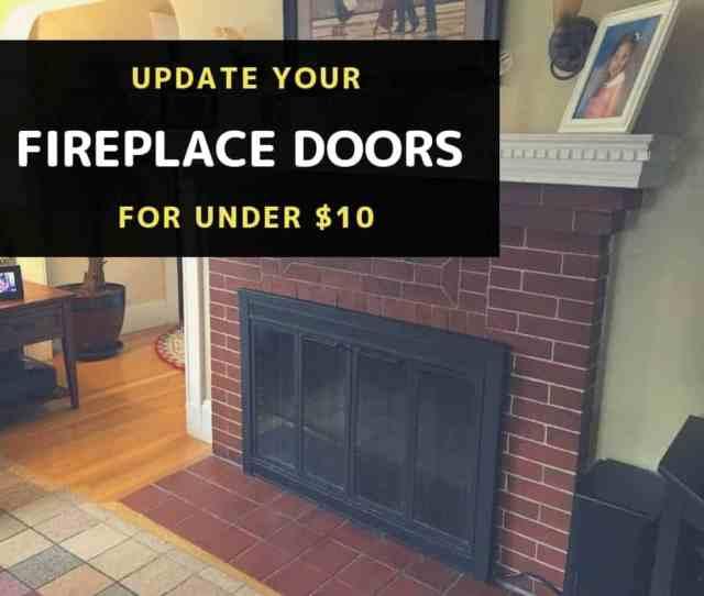 Update Brass Fireplace Doors For Under