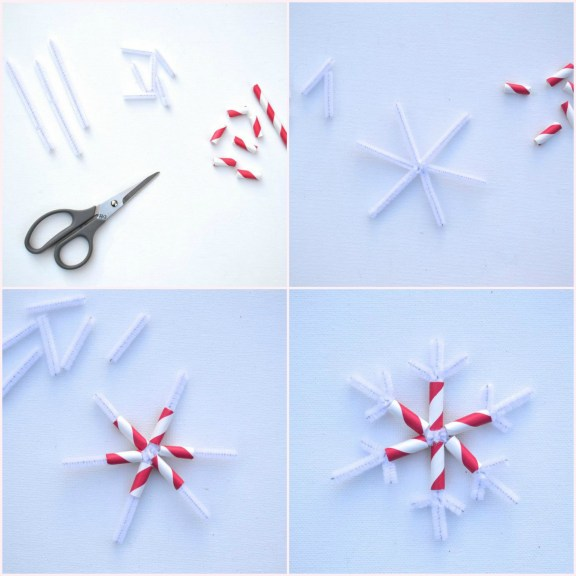 Everyday Party Magazine DIY Joy Mini Bunting Snowflake