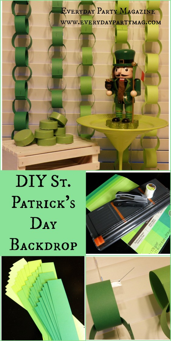 Everyday Party Magazine Paper Chain DIY St. Patrick's Day 4 Kids Cakes