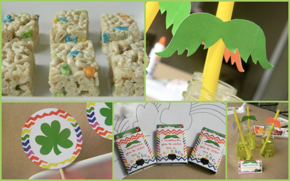 Everyday Party Magazine Color me a rainbow St. Patrick's Day Printables