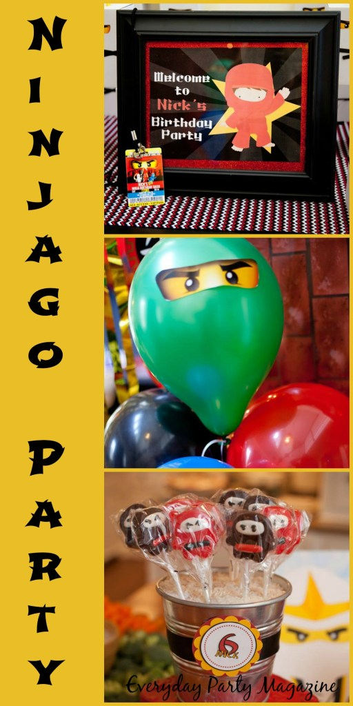 Everyday Party Magazine Ninjago Party Collage The Party Designers, Inc