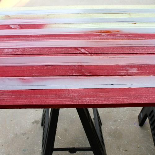Everyday Party Magazine Rustic Wood Flag DIY