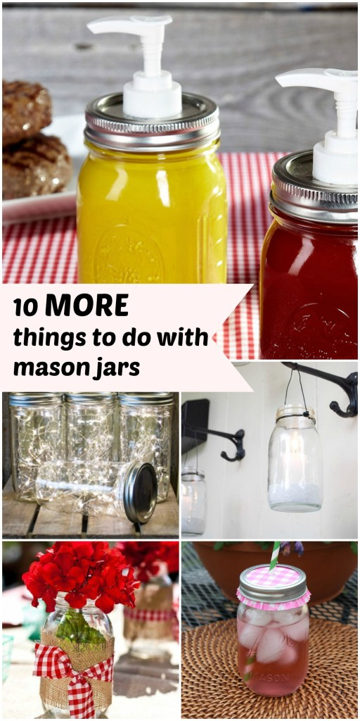 Mason jar collage
