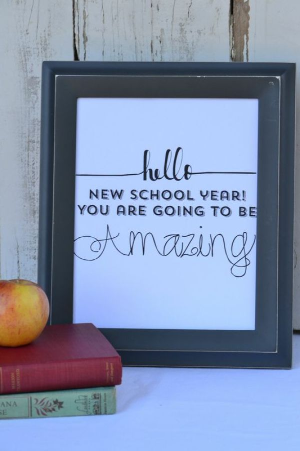 Everyday Party Magazine Free Back to School Printable Framed Image
