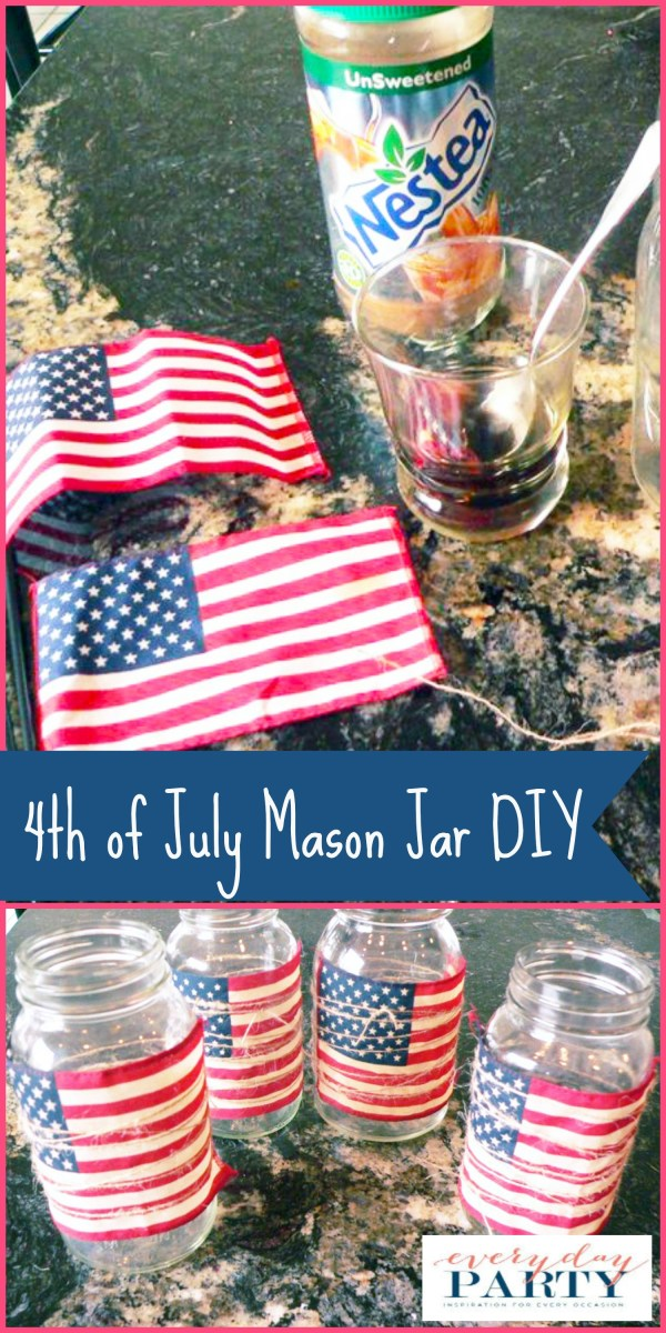 Everyday Party Magazine 4th of July Mason Jar DIY by My Thrifty Sister