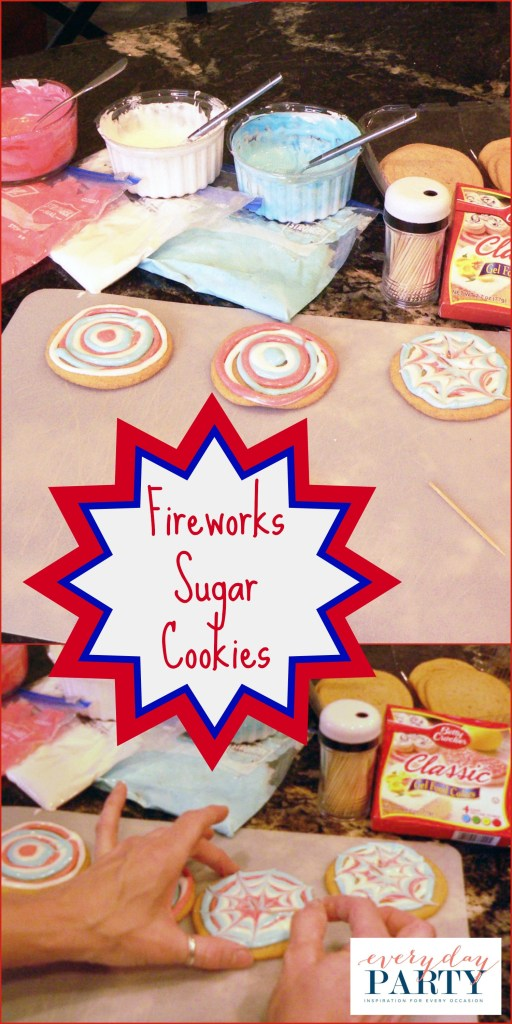 Everyday Party Magazine 4th of July Cookies Fireworks Sugar Cookies