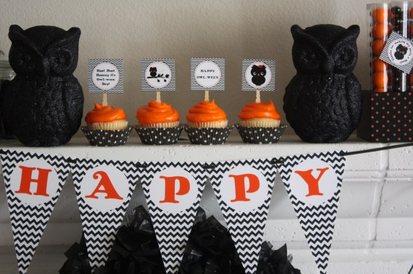 Everyday Party Magazine Owl-Ween Halloween Party by BellaGrey Designs
