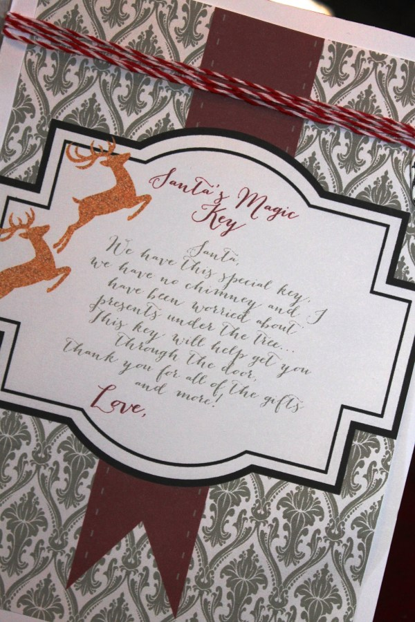 Everyday Party Magazine Magic Santa Key free printable