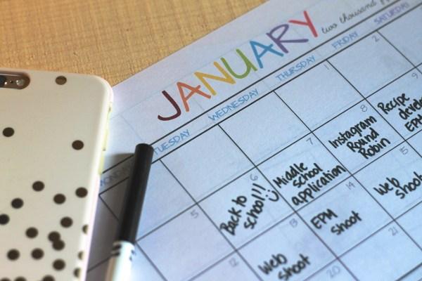 Everyday Party Magazine Free Printable 2015 Calendar