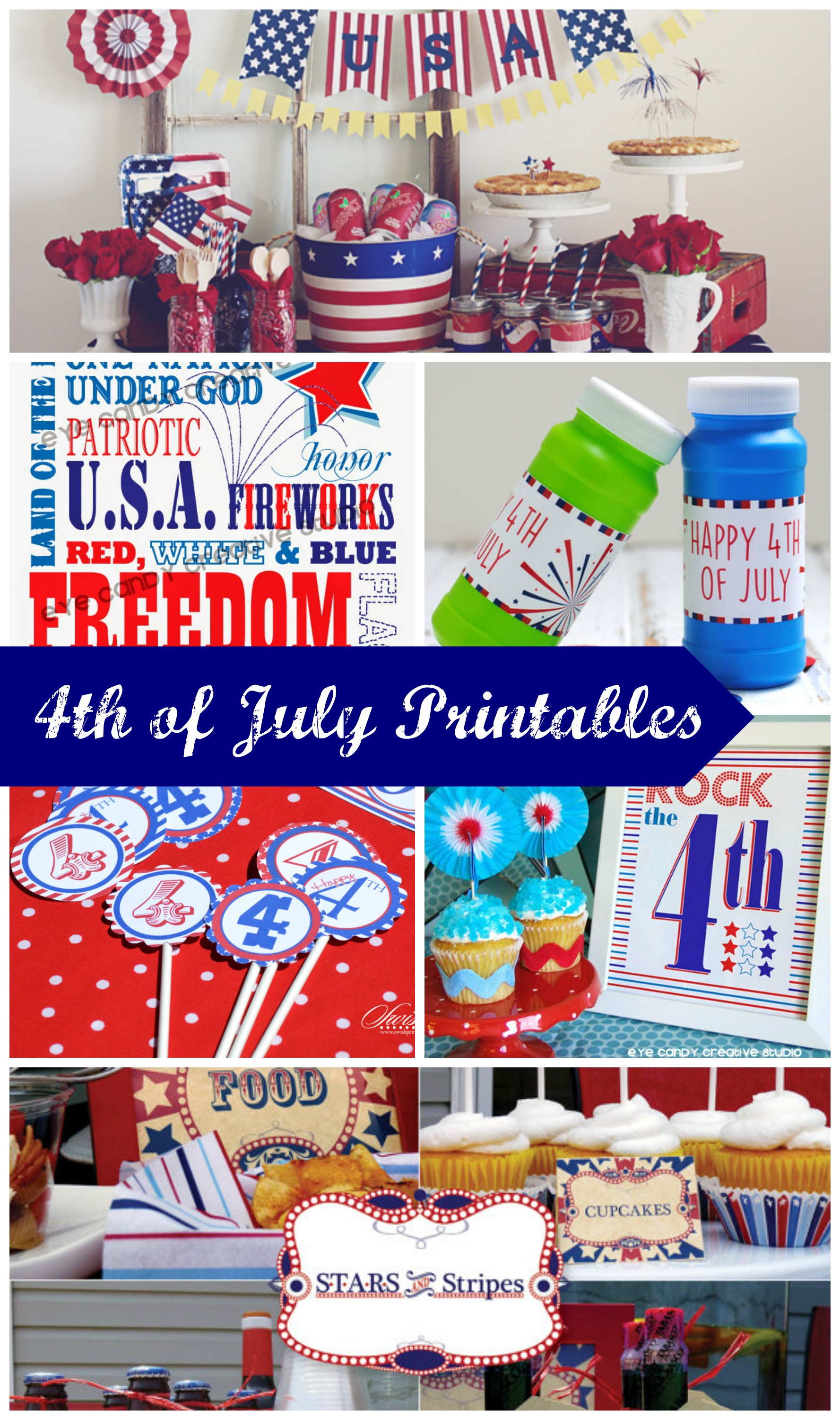 4th Of July Printable Round Up