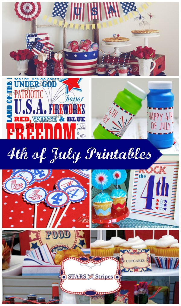 Everyday Party Magazine 4th of July Printable Roundup Collage