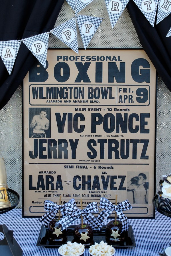 Vintage Boxing Father's Day by Laura's Little Party on Everyday Party Magazine