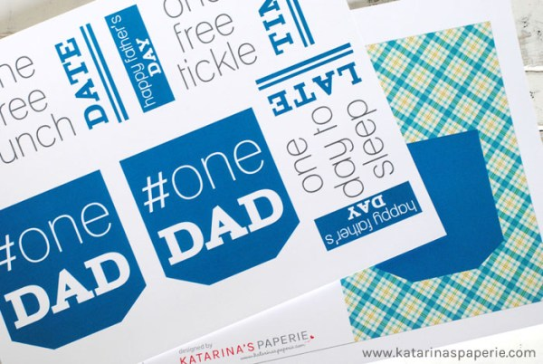 Father's Day Printable Card and Coupons by Katarina's Paperie on Everyday Party Magazine
