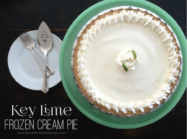 Key Lime Frozen Cream Pie by Pamela Smerker Designs