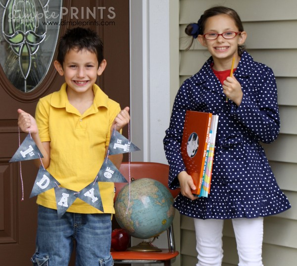 1st Day of School Printable Banner by DimplePrints