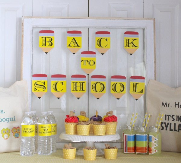 Everyday Party Magazine Back to School Party