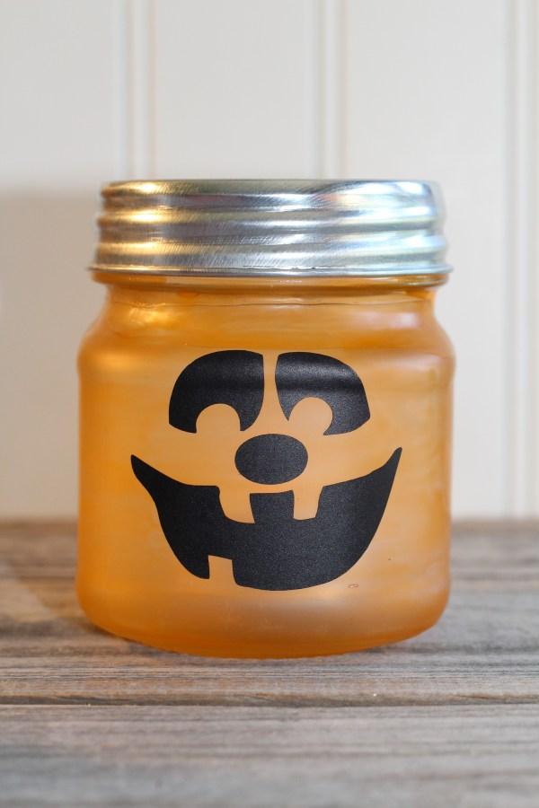 Everyday Party Magazine Glass Jar Jack O Lantern