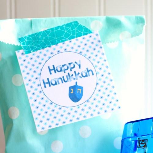 Everyday Party Magazine Printable Happy Hanukkah Tags