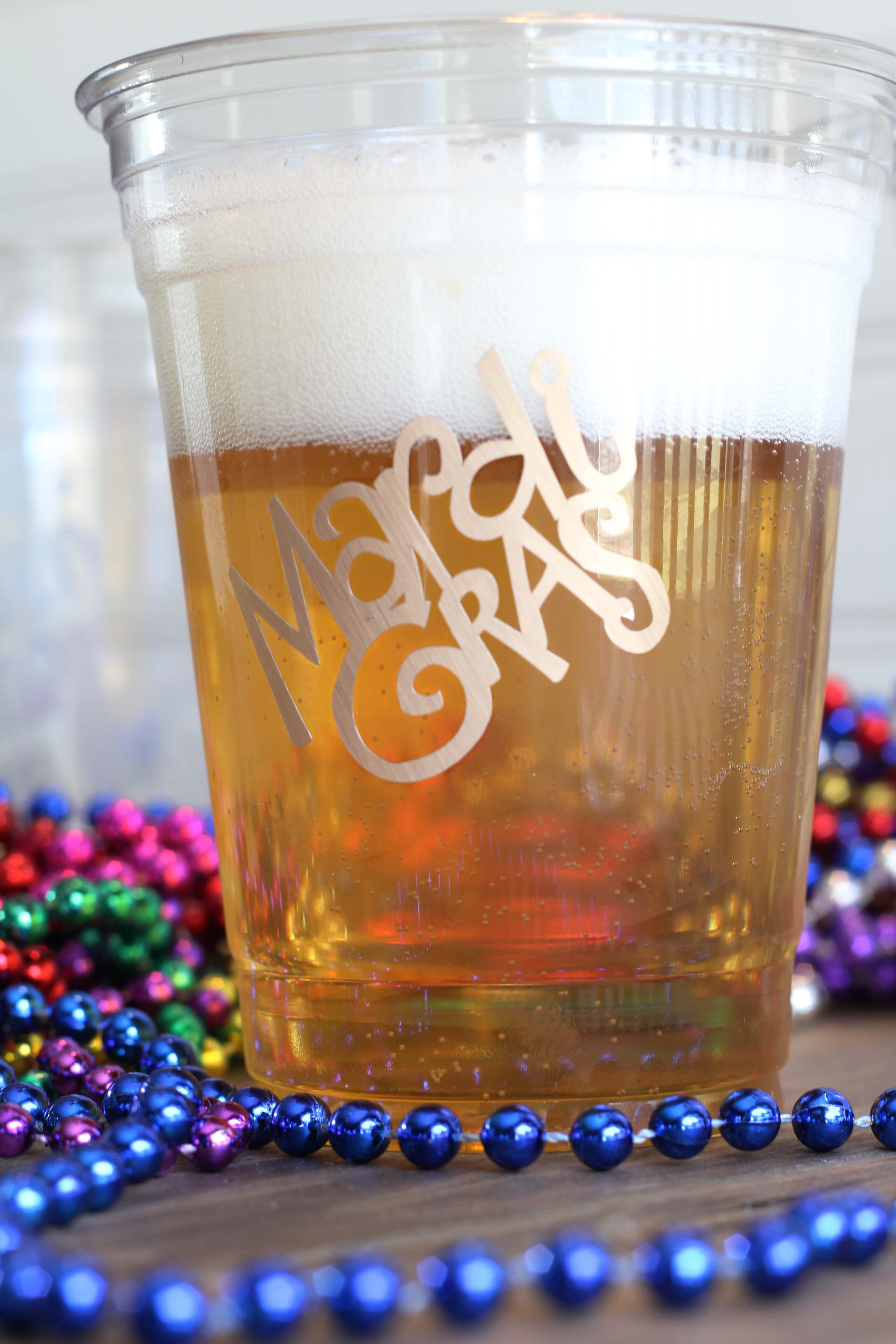 Simple Diy Mardi Gras Glasses Everyday Party Magazine