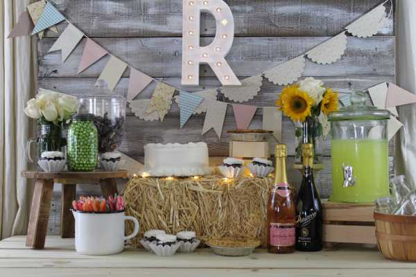 Everyday Party Magazine Rustic Wedding Reception