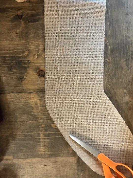 Everyday Party Magaizne Simple No Sew Stocking DIY