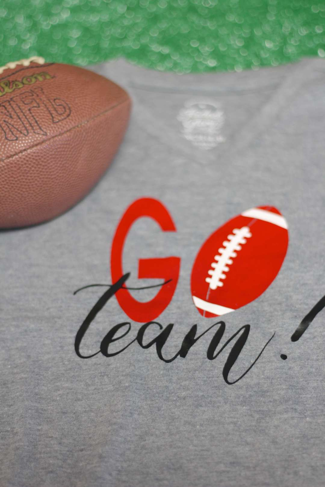 Everyday Party Magazine Go Team Football Shirt DIY