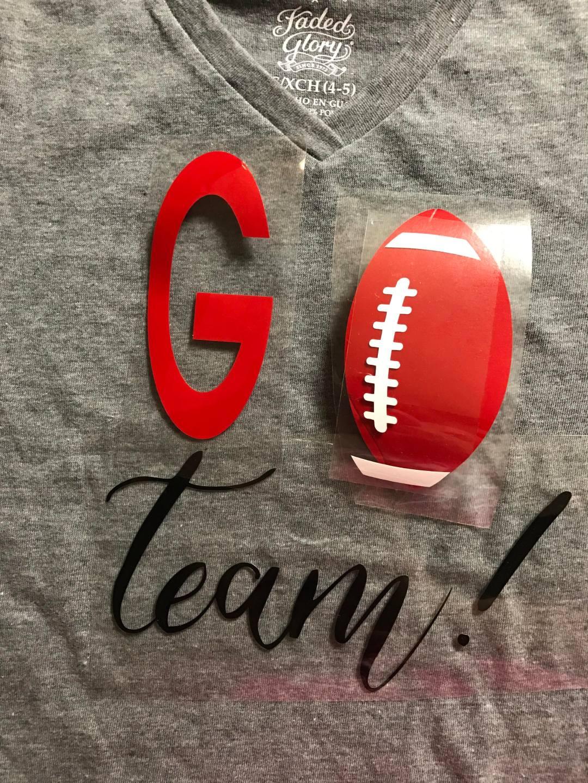 Everyday Party Magazine Go Team Football Shirt DIY