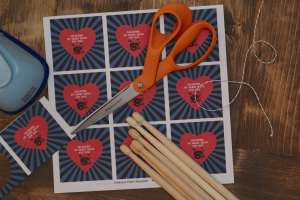 My Heart Beats for You Printable Tags