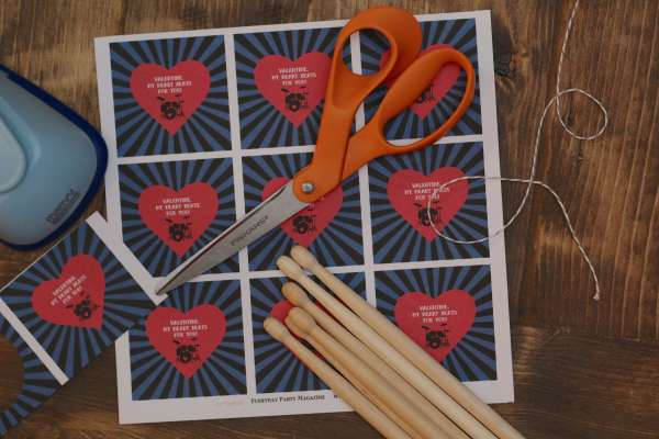 My Heart Beats for You Valentines Tags