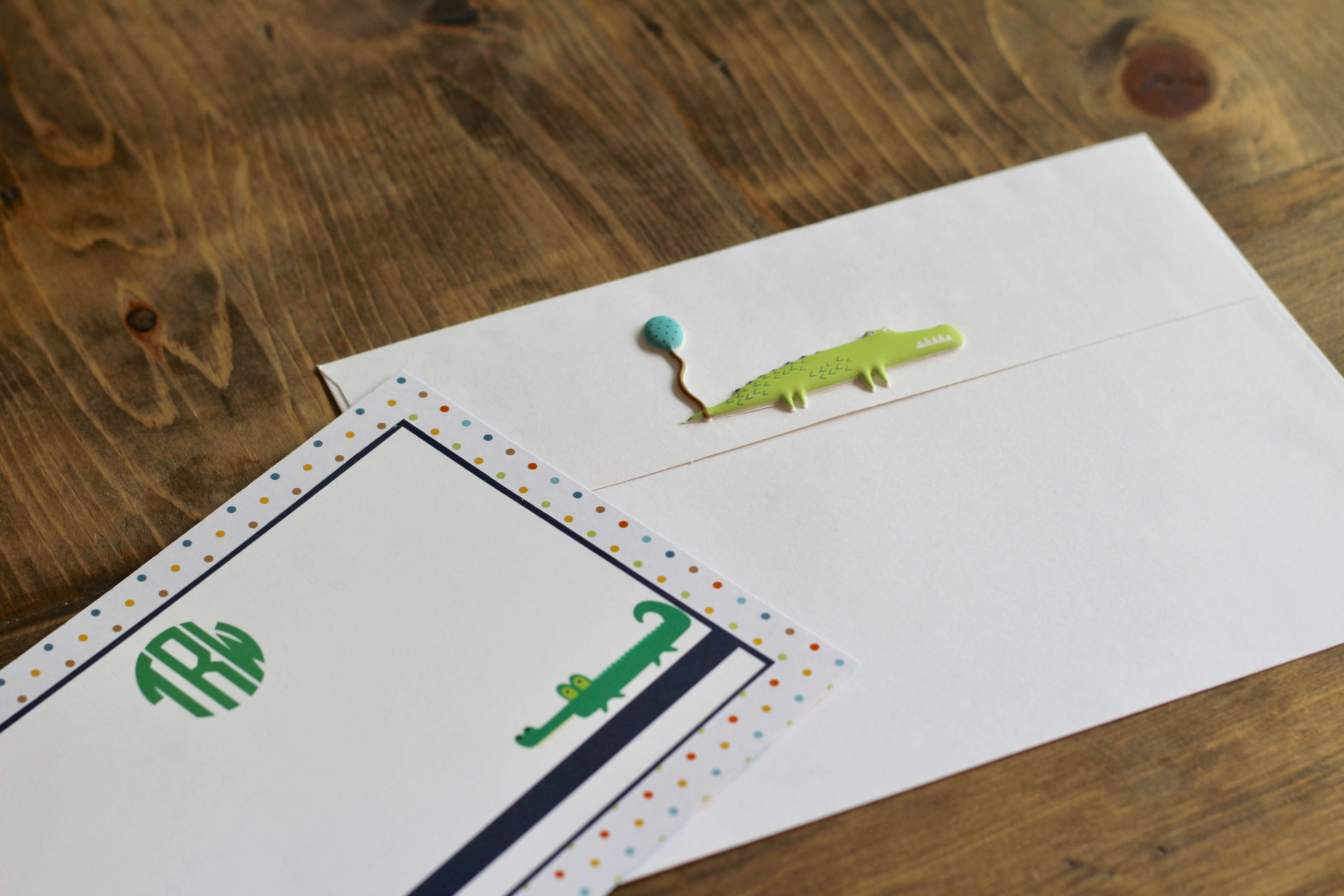 Everyday Party Magazine Simple Printable Cards with Paper House and Xyron